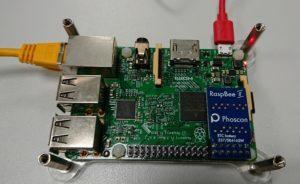 RasBee II mounted on Pi3 board